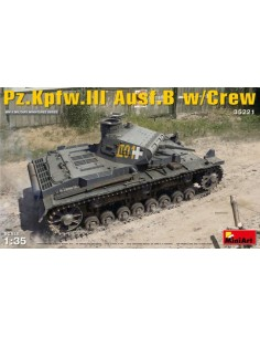 MiniArt - 35221 - Pz.Kpfw.III Ausf.B With Crew  - Hobby Sector