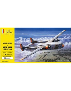 Heller - 85374 - Nord 2501 + Nord 2502 Noratlas Twin Set  - Hobby Sector