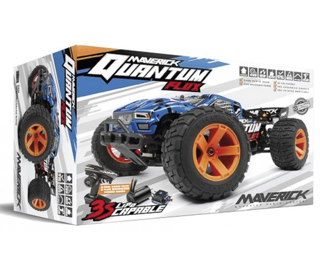 Maverick - 150205 - Quantum XT Flux Brushless 4WD Blue - RTR  - Hobby Sector