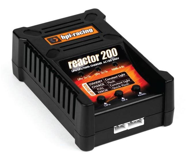 HPI-Racing - 118051 - Charger Reactor 200 For LiPo/LiFe 2S-3S & NiMh/NiCd - Tamiya & Deans Plug  - Hobby Sector