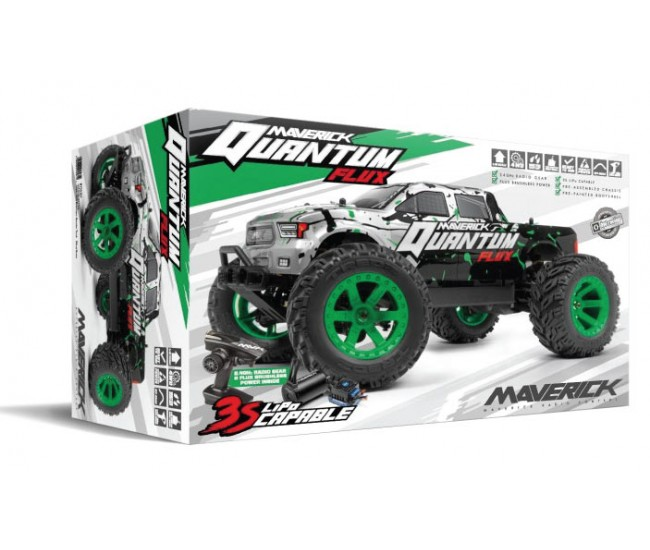 Maverick - 150201 - Quantum MT Flux Brushless 4WD Silver - RTR  - Hobby Sector
