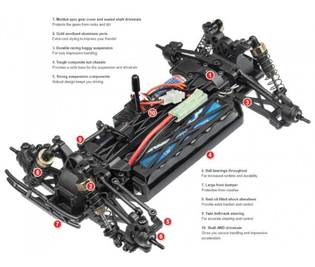 Maverick - 12808 - ION XT Truggy 4WD - RTR  - Hobby Sector