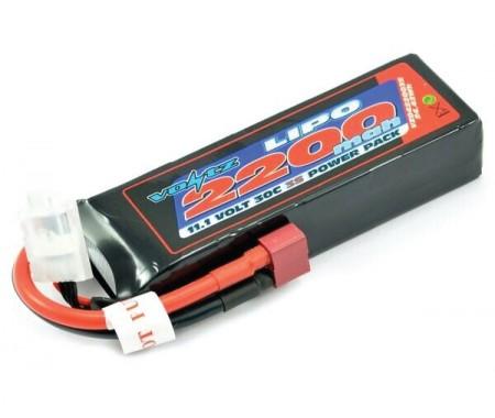 Voltz - VZ0422003SXT60 - 11,1V 2200mAh 3S LiPo 30C VOLTZ - Deans Plug  - Hobby Sector