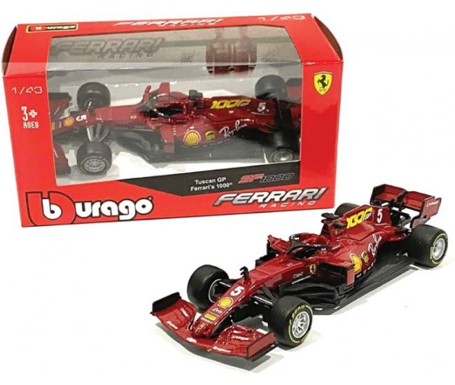 Bburago - 36823VM - Ferrari F1 FS1000 1000th Race Sebastien Vettel Tuscan GP 2020  - Hobby Sector