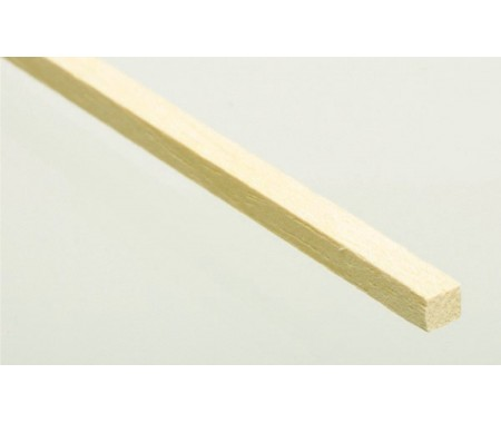 Billing Boats - BW1072 - Basswood - Wood Strip (1 pc) 4x4x780mm  - Hobby Sector