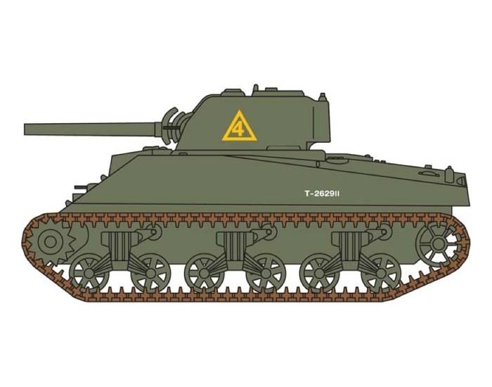 Airfix - A01303 - Airfix - Sherman M4A2 Tank  - Hobby Sector