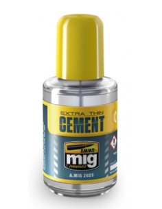 MIG - A.MIG-2025 - Extra Thin Cement - Bottle 30ml  - Hobby Sector