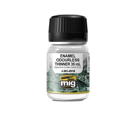 MIG - A.MIG-2018 - Enamel Odourless Thinner 35ml  - Hobby Sector