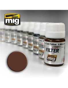MIG - A.MIG-1500 - Filter - Brown For White  - Hobby Sector