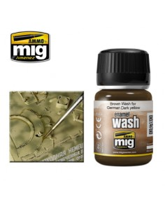MIG - A.MIG-1000 - Wash - Brown Wash For German Dark Yellow  - Hobby Sector