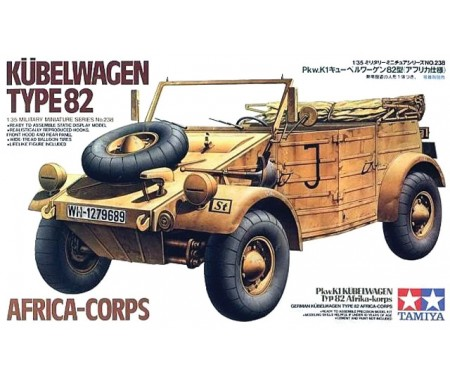 Tamiya - 35238 - Kubelwagen Type 82 Africa Corps  - Hobby Sector