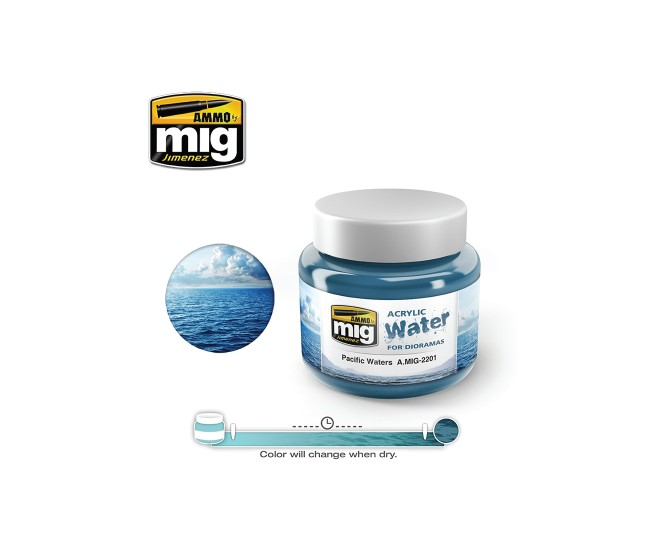MIG - A.MIG-2201 - Acrylic Water - Pacific Waters  - Hobby Sector