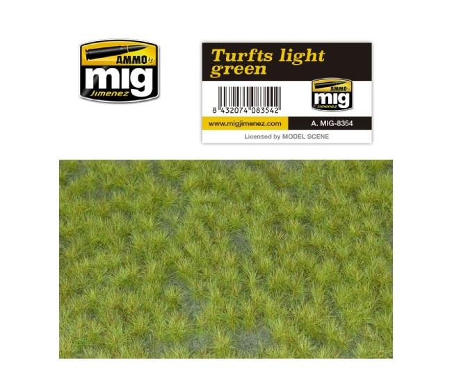 MIG - A.MIG-8354 - Turfs - Light Green  - Hobby Sector