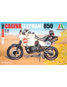 Italeri - 4643 - Cagiva Elephant 850 Paris Dakar 1987  - Hobby Sector