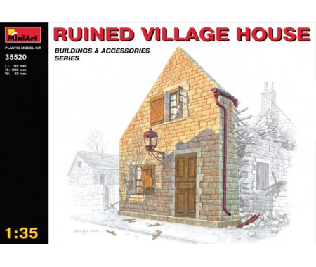 MiniArt - 35520 - Ruined Village House  - Hobby Sector
