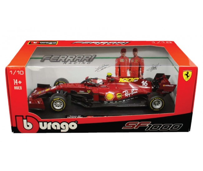Bburago - 16808TUL - Ferrari SF1000 C. Leclerc 1000th GP Ferrari Tuscan GP 2020  - Hobby Sector