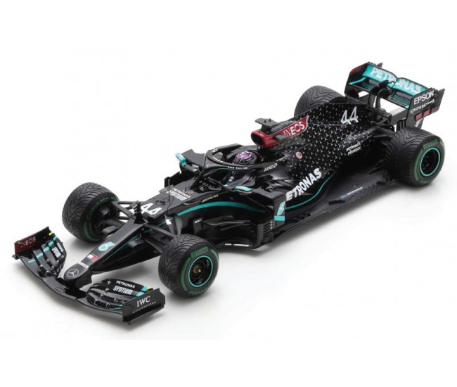 Spark - 18S567 - Mercedes-AMG F1 W11 Lewis Hamilton Winner Turkish GP 2020 World Champion Edition With Pit Board  - Hobby Sector
