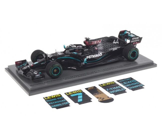 Spark - S6488 - Mercedes-AMG F1 W11 Lewis Hamilton Winner Turkish GP 2020 World Champion Edition With Pit Board  - Hobby Sector