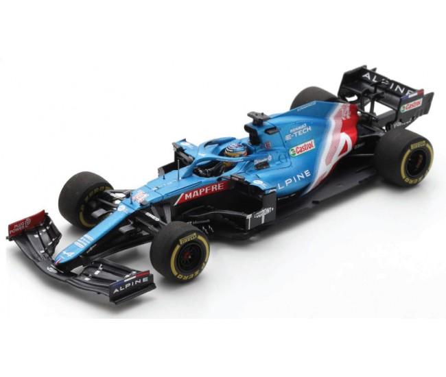 Spark - S7664 - Alpine A521 F1 Fernando Alonso Bahrain GP 2021  - Hobby Sector