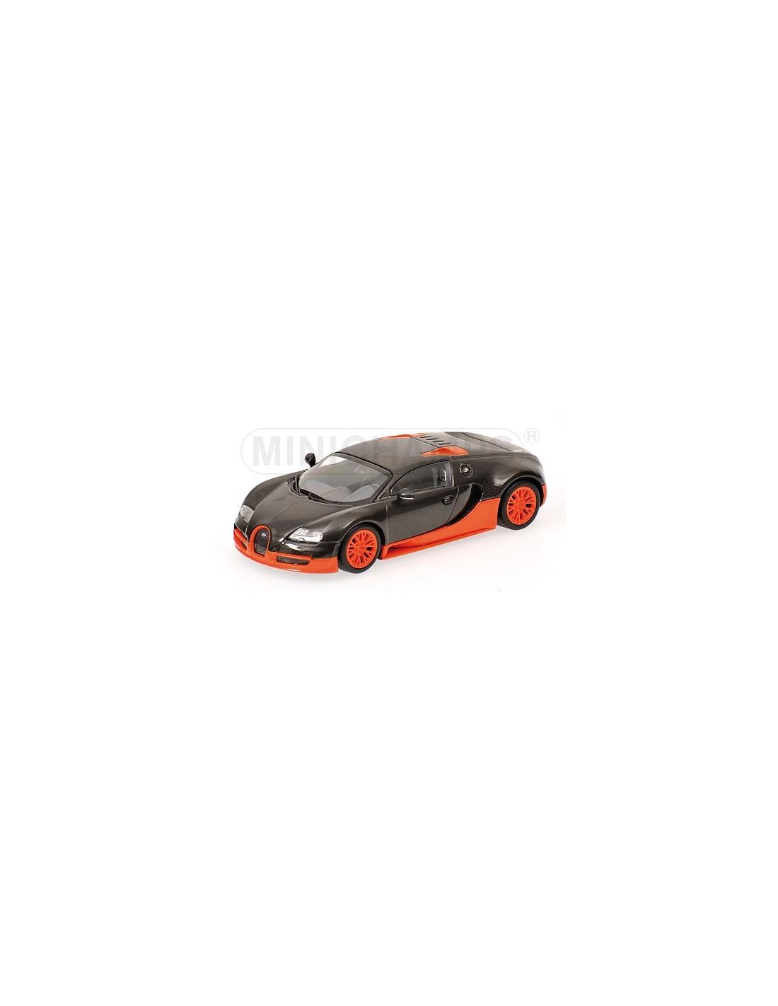 minichamps bugatti veyron super sport 2010 carbon orange world record. Black Bedroom Furniture Sets. Home Design Ideas