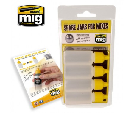 Green Stuff World - A.MIG-8004 - SPARE JARS FOR MIXES  - Hobby Sector