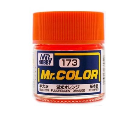 MrHobby (Gunze) - C173 - C173 FLUORESCENT ORANGE - 10ML LACQUER PAINT  - Hobby Sector