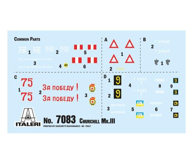 Italeri - 7083 - CHURCHILL MK.III  - Hobby Sector