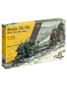 Italeri - 6464 - BREDA 20/65 MOD. 35 WITH CREW  - Hobby Sector