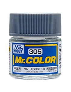 MrHobby (Gunze) - C305 - C305 GRAY - 10ML LACQUER PAINT  - Hobby Sector