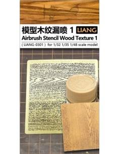 Liang - LIANG-0301 - AIRBRUSH STENCIL WOOD TEXTURE 1  - Hobby Sector