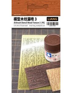 Liang - LIANG-0303 - AIRBRUSH STENCIL WOOD TEXTURE 3  - Hobby Sector