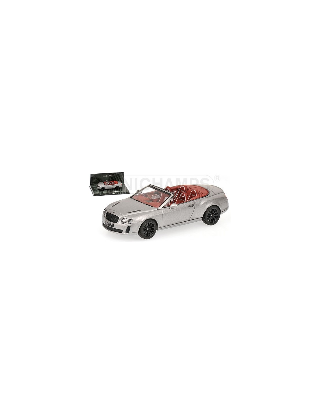 Bentley Continental Gt Convertible 1900 Gray For Sale: MINICHAMPS BENTLEY CONTINENTAL SUPERSPORTS CABRIOLET