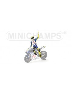FIGURINE RIDING - VALENTINO ROSSI - ´LAP OF HONOUR´ - MOTOGP 2007 JEREZ