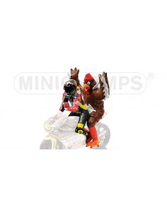 FIGURINE - VALENTINO ROSSI (+ CHICKEN) - GP 250 BARCELONA - 1998