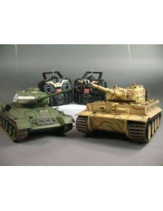 Tanks Tiger I vs T-34 - InfraRed Battle System - 1/16 Scale