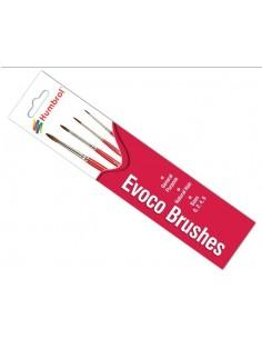 Humbrol - AG4150 - Humbrol - Evoco Brush Pack - Size 0/2/4/6  - Hobby Sector