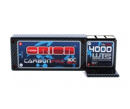 7,4V 4000mAh LiPo 90C Carbon Pro WTS - Tubes Plug