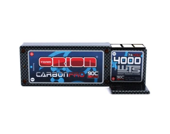 7.4V 4000mAh LiPo 2S 90C Carbon Pro WTS - Tubes Plug