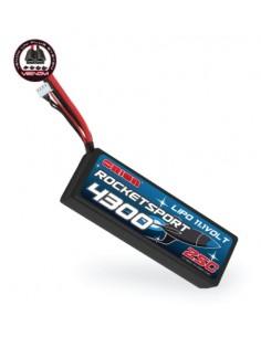 11,1V 4300mAh LiPo 25C Rocket Sport - Tamiya/Deans/TRX/EC3 Venom Plugs