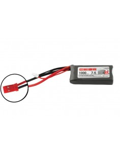 7,4V 1000 2S LiPo 50C - JST Plug
