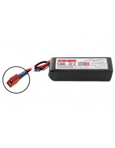 22,2V 5300 6S LiPo 50C - Deans Plug