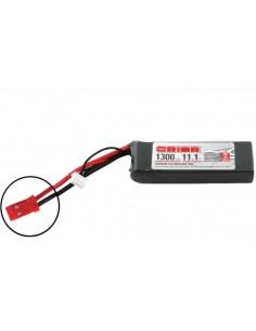 11,1V 1300 3S LiPo 50C - JST Plug