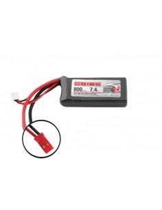 7,4V 800 2S LiPo 50C - JST Plug