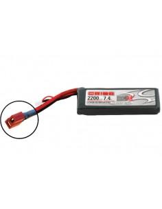 7,4V 2200 2S LiPo 50C - Deans Plug