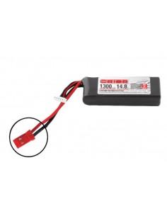 14,8V 1300 4S LiPo 50C - JST Plug
