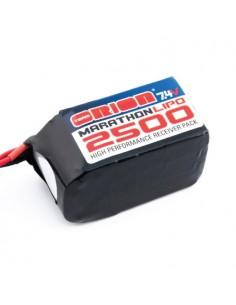 7,4V 2500 LiPo Hump RX Pack - Uni Plug