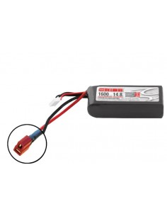 14,8V 1600 4S LiPo 50C LED - Deans Plug