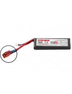 7,4V 1800 2S LiPo 50C LED - Deans Plug