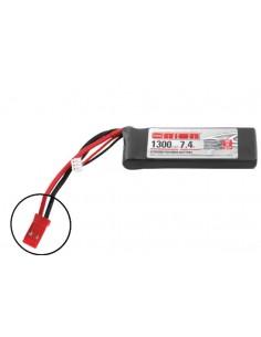 7,4V 1300 2S LiPo LED 50C - JST Plug