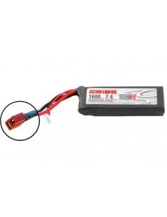 7,4V 1600 2S LiPo 50C LED - Deans Plug